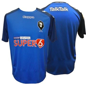 Picture of DISCOUNTED WHILE STOCKS LAST SALFORD CITY ADULTS Kappa Paderno Third Kit Shirt in Blue