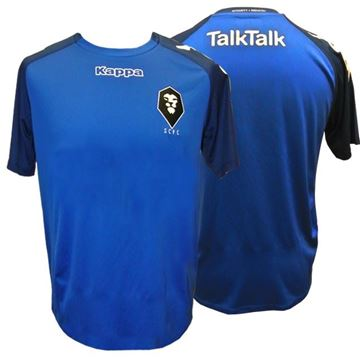 Picture of DISCOUNTED WHILE STOCKS LAST SALFORD CITY JUNIOR Kappa Paderno Third Kit Shirt in Blue