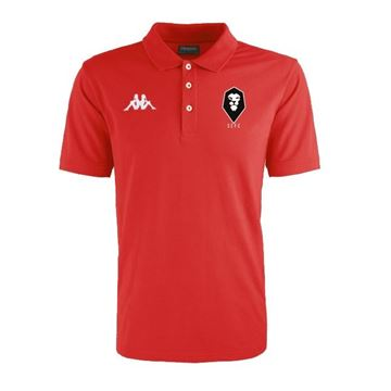 Picture of SALFORD CITY JUNIOR Kappa Peglio Poloshirt in Red
