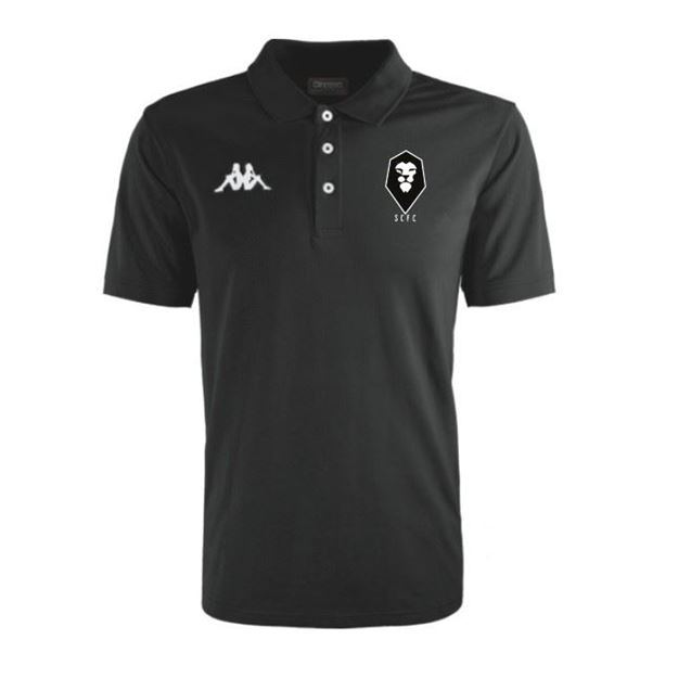 Picture of SALFORD CITY JUNIOR Kappa Peglio Poloshirt in Black