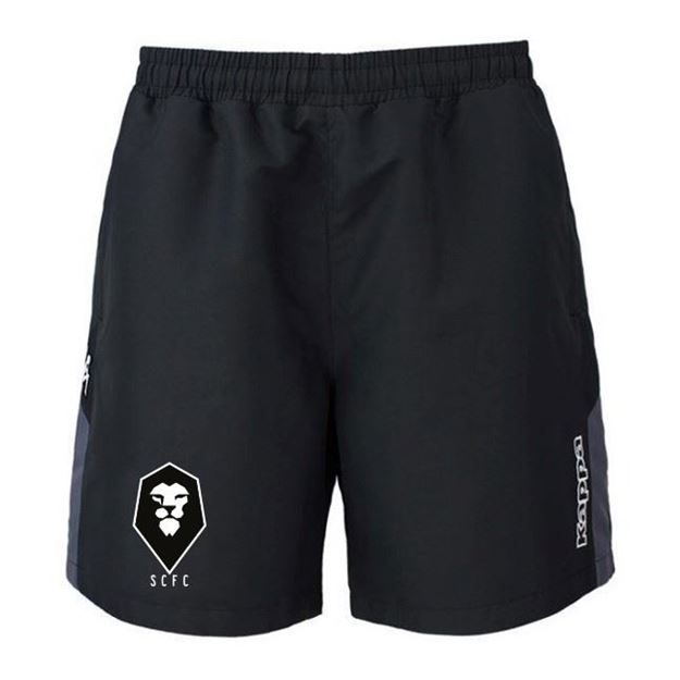 Picture of SALFORD CITY JUNIOR Kappa Passo Shorts in Black
