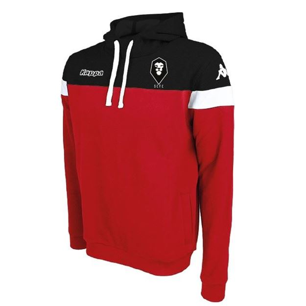 Picture of SALFORD CITY ADULTS Kappa Accio Hoody in Red/Black