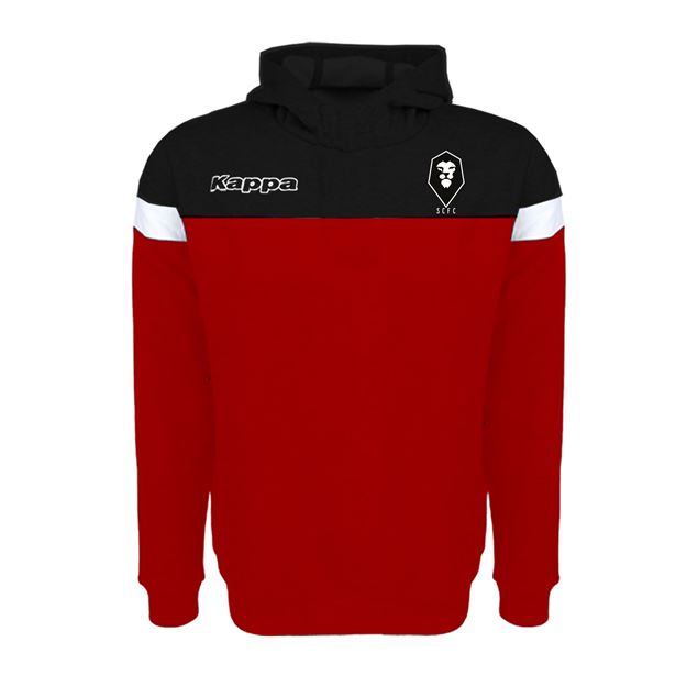 Picture of SALFORD CITY JUNIOR Kappa Accio Hoody in Red/Black