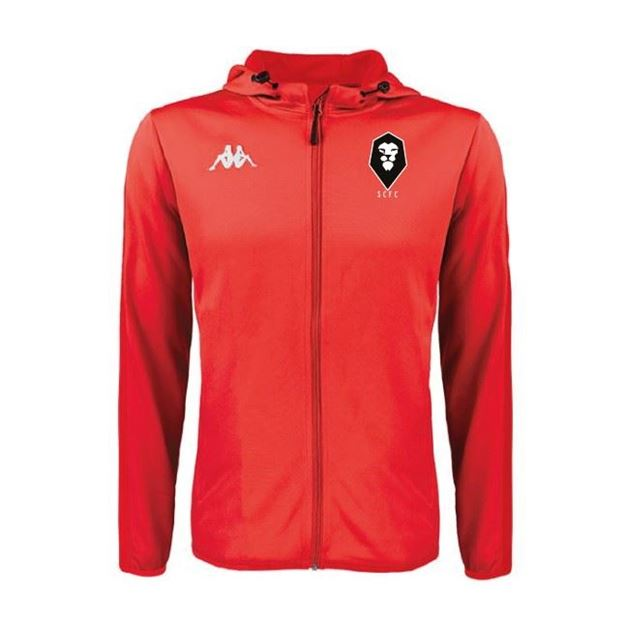 Picture of SALFORD CITY ADULTS Kappa Telve Zip Jacket in Red