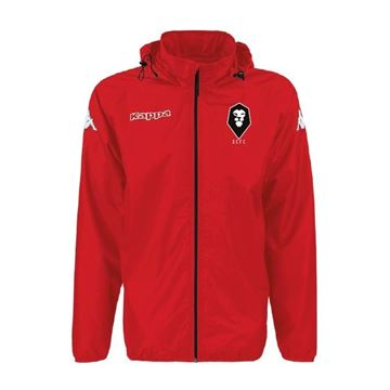 Picture of SALFORD CITY JUNIOR Kappa Martio Rain Jacket in Red