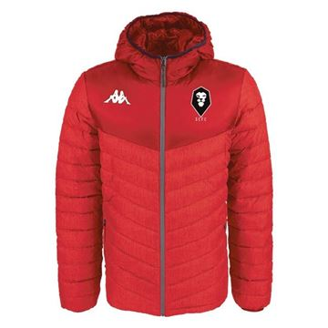 Picture of SALFORD CITY JUNIOR Kappa Doccio Padded Jacket in Red
