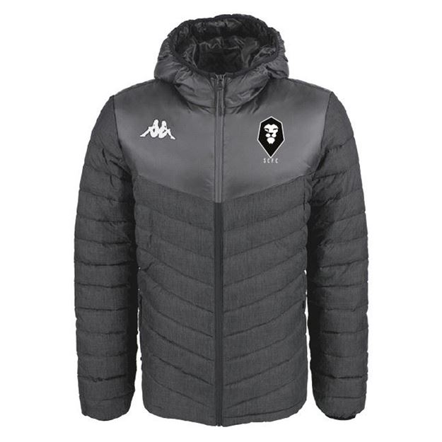 Picture of SALFORD CITY ADULTS Kappa Doccio Padded Jacket in Black