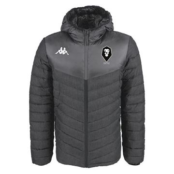Picture of SALFORD CITY JUNIOR Kappa Doccio Padded Jacket in Black