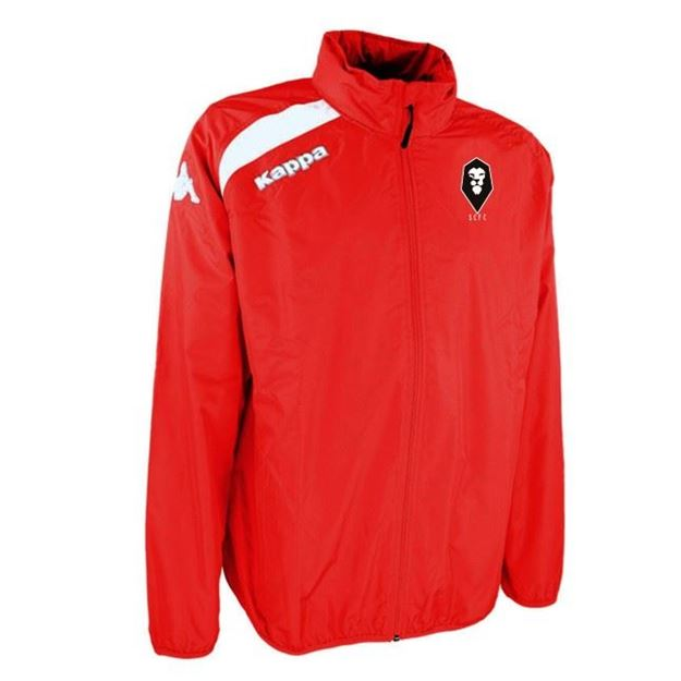 Picture of SALFORD CITY ADULTS Kappa Vado Windbreaker Jacket in Red