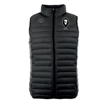Picture of SALFORD CITY JUNIOR Kappa Drezzo Sleeveless Padded Jacket in Black