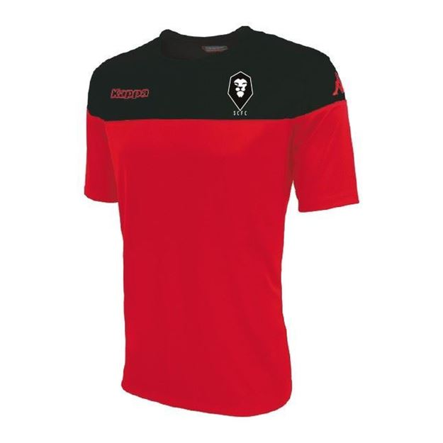 Picture of SALFORD CITY JUNIOR Kappa Mareto Shirt in Red/Black