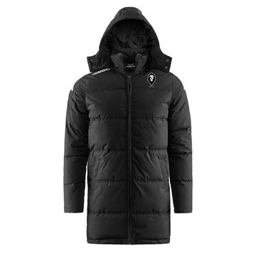 Picture of SALFORD CITY ADULTS Kappa Black Seddolo Long Padded Jacket