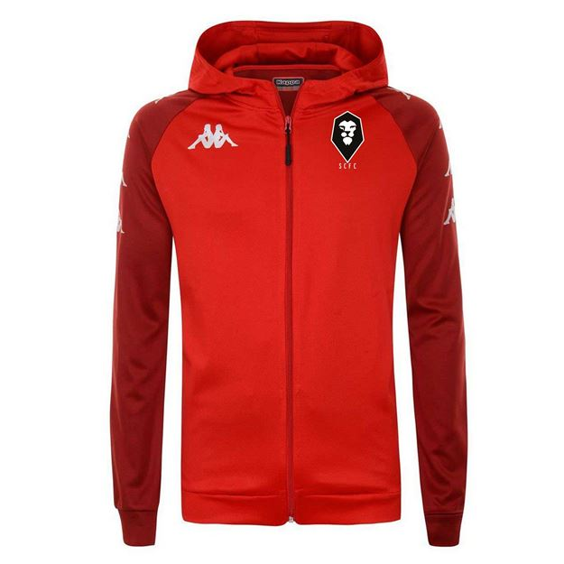 Picture of SALFORD CITY ADULTS Kappa Red Tortona Hooded jacket