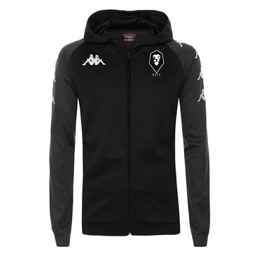 Picture of SALFORD CITY JUNIOR Kappa Black Tortona Hooded jacket