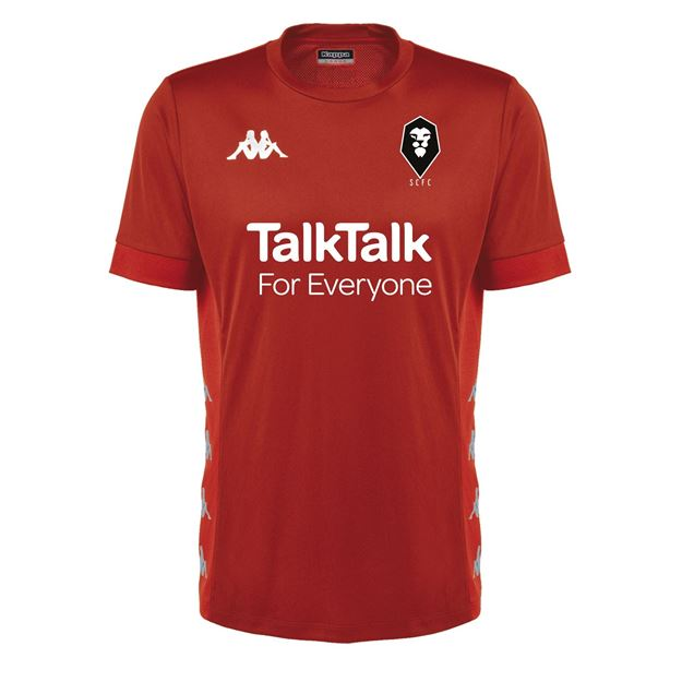 Picture of SALFORD CITY ADULTS Kappa Red DERVIO PLAYERS TRAINING TEE