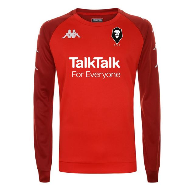 Picture of SALFORD CITY ADULTS Kappa Red Parme PLAYERS TRAINING SWEAT