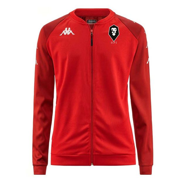 Picture of SALFORD CITY ADULTS Kappa Red VERONE PLAYERS JACKET